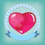 Geleia do coração na fita Imagens de Stock Royalty Free