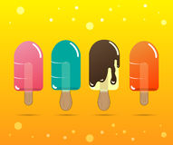 Geleia e chocolate coloridos do gelado Ilustração do vetor Foto de Stock Royalty Free