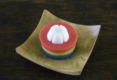 Geleia feita da sobremesa Tailândia do coco da água fotos de stock