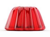 Geleia vermelha isolada no fundo branco ilustração 3D Foto de Stock Royalty Free