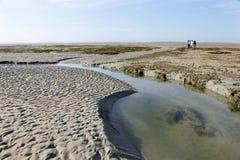 Geleid bezoek, de Baaiestuarium van Somme, Frankrijk Royalty-vrije Stock Foto's