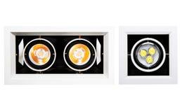 Geleid onderaan geïsoleerd licht Stock Foto's