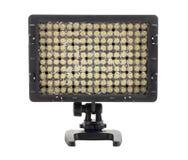 Geleid videolicht voor camera op witte achtergrond Royalty-vrije Stock Fotografie
