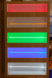 Geleide lichte strepen Stock Foto