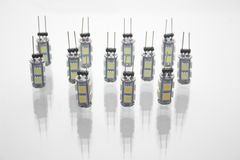 Geleide lichten Stock Foto