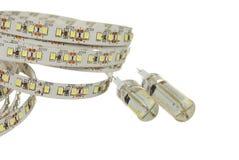 Geleide streep en lampen Royalty-vrije Stock Afbeelding
