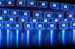 Geleide strook rgb lichten, blauwe kleur Royalty-vrije Stock Afbeelding