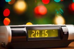 Geleide vertoning van wekker met 2015 Stock Afbeeldingen