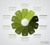 Geleidelijke infographic Stock Foto's