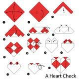 Geleidelijke instructies hoe te om tot origami een Lijst te maken Royalty-vrije Stock Foto's