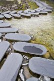 Geleidelijke steenweg Stock Foto