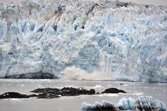 Geleira Alaska de Hubbard Fotografia de Stock