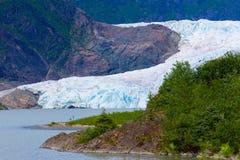 Geleira Alaska de Mendenhall Imagem de Stock