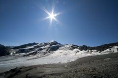 Geleira alpina Imagens de Stock