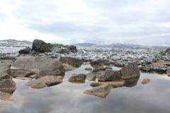 geleira alpina e água Imagens de Stock Royalty Free