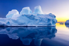 Geleira antártica Imagem de Stock Royalty Free