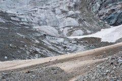 Geleira Chalaadi em Svaneti, Geórgia Fotografia de Stock