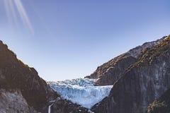 Geleira da montanha de Queulat, Patagonia, o Chile fotos de stock