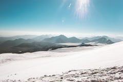 Geleira da paisagem da escala de montanhas Fotos de Stock Royalty Free