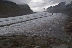 Geleira de Aletsch Foto de Stock