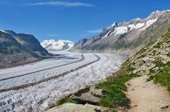 Geleira de Aletsch, Suíça Imagens de Stock Royalty Free