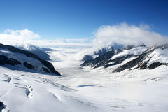 Geleira de Aletsch, Switzerland Fotografia de Stock