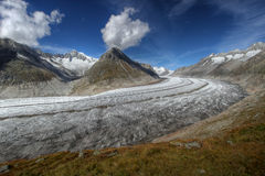 Geleira de Aletsch, Switzerland Imagem de Stock Royalty Free