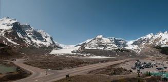 Geleira de Athabasca do panorama Fotos de Stock