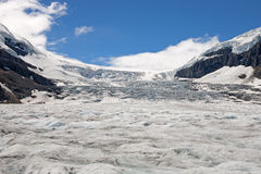 Geleira de Athabasca nas Montanhas Rochosas canadenses Fotografia de Stock