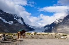 Geleira de Athabaska na via pública larga e urbanizada de Icefield em tudo é splendeur, Alb Imagens de Stock
