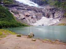 Geleira de Briksdalsbreen, Noruega foto de stock