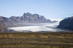 Geleira de derretimento, parque nacional de Vatnajökull, Islândia Imagem de Stock
