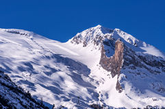 Geleira de Hintertux em cumes austríacos imagens de stock