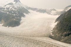 Geleira de Hubbard - Alaska imagens de stock
