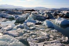 Geleira de Islândia Imagens de Stock