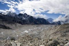 Geleira de Khumbu Fotografia de Stock