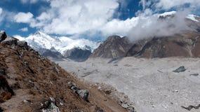 Geleira de Khumbu em Nepal, Ásia fotos de stock