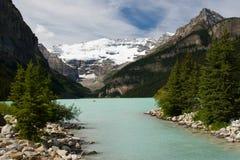 Geleira de Lake Louise e de Victoria Imagens de Stock Royalty Free