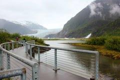 Geleira de Mendenhall, Juneau Alaska fotografia de stock