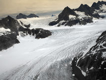 A geleira de Mendenhall no Juneau Icefields em Alaska EUA Fotografia de Stock Royalty Free