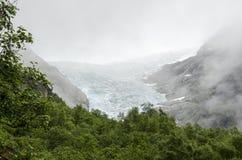Geleira de Noruega - de Briksdal - parque nacional de Jostedalsbreen foto de stock