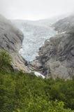 Geleira de Noruega - de Briksdal - parque nacional de Jostedalsbreen Fotos de Stock