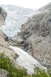 Geleira de Noruega - de Briksdal - parque nacional de Jostedalsbreen Imagens de Stock