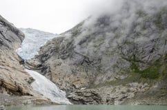 Geleira de Noruega - de Briksdal - parque nacional de Jostedalsbreen Fotografia de Stock