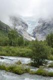 Geleira de Noruega - de Briksdal - parque nacional de Jostedalsbreen Imagem de Stock