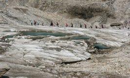 A geleira de Pasterze (Grossglockner) nos alpes imagens de stock