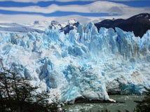 Geleira de Perito Moreno no verão fotos de stock royalty free