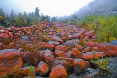 Geleira de Redstone imagens de stock