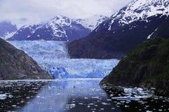Geleira de Sawyer no Fjord do braço de Tracy foto de stock