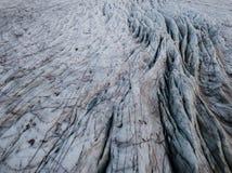 Geleira de Skaftafell em Islândia Foto de Stock